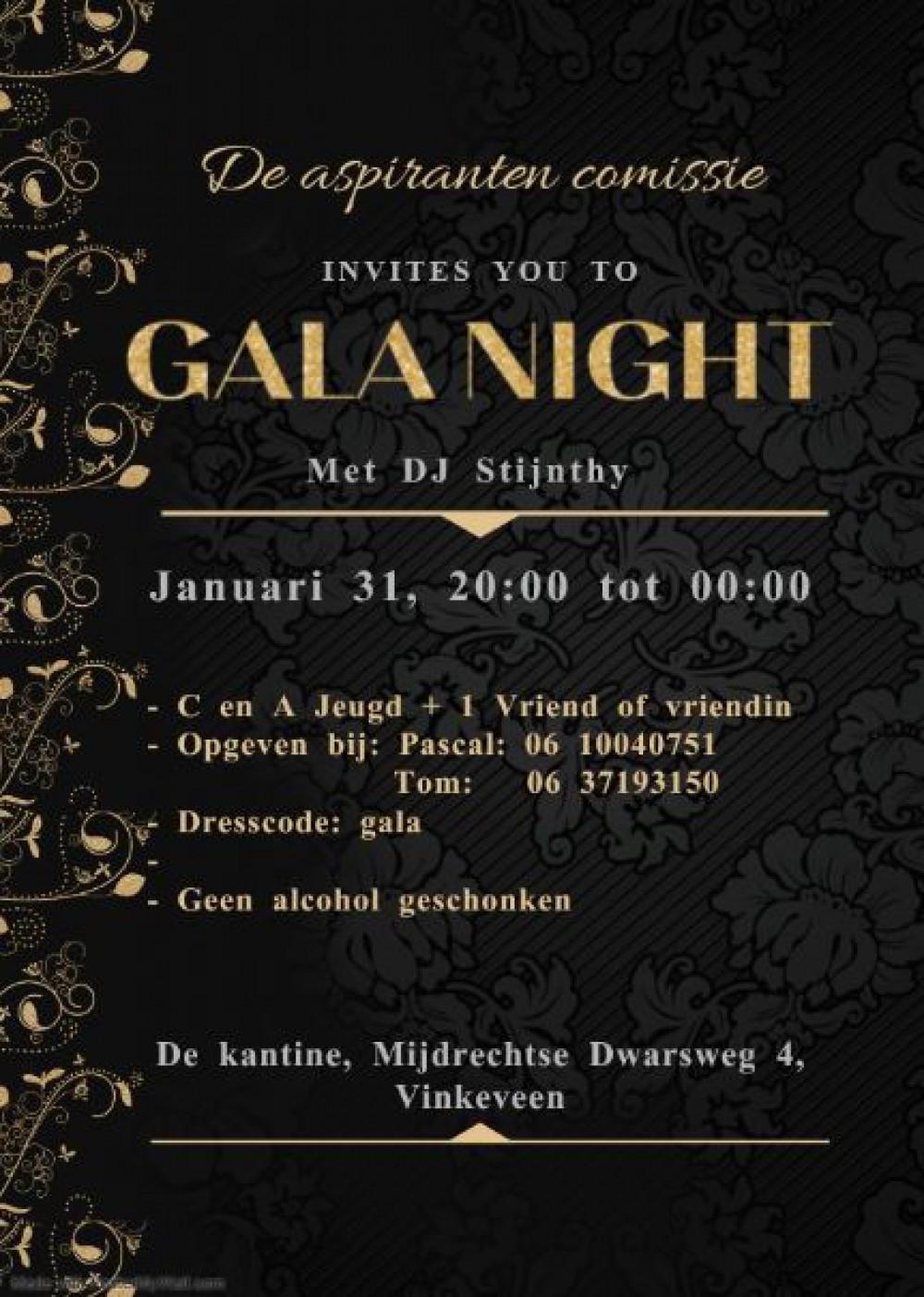 Galanight 31 januari