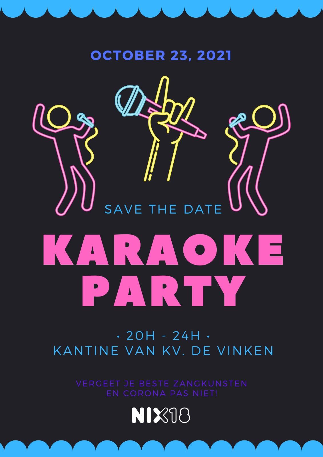 23 oktober KaraokeParty bij KV De Vinken!