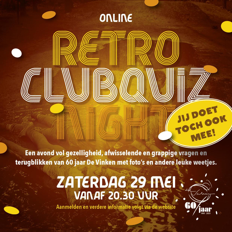 Retro Clubquiz Night - 29 mei