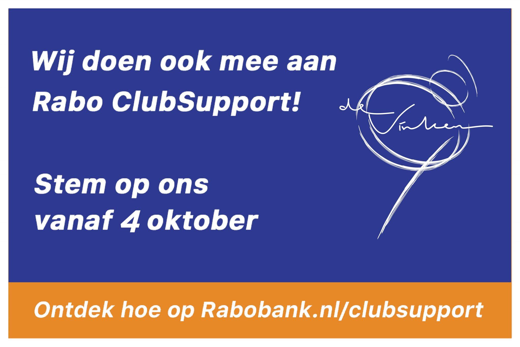 De Vinken doet mee aan Rabo Clubsupport
